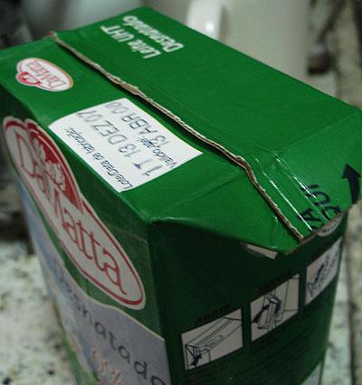 foto da caixa de leite Da Matta - 02