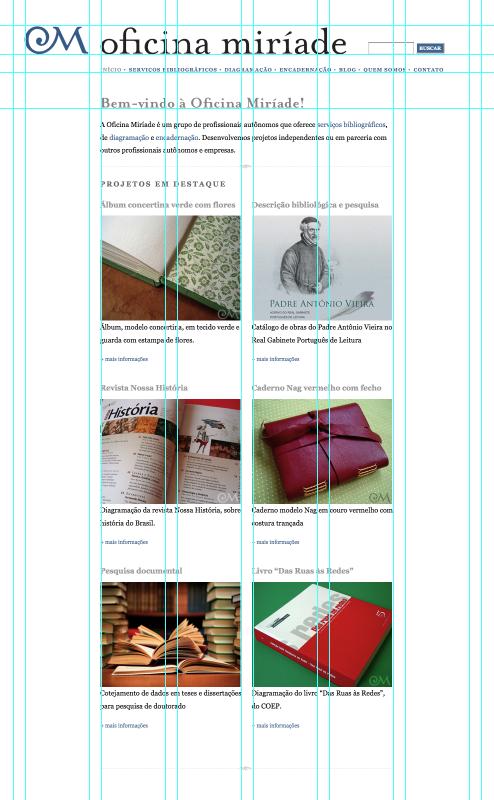 reprodução da tela do site